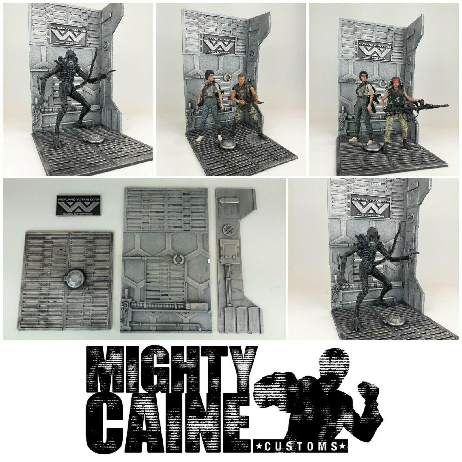Magnetic Custom Diorama Display Base for NECA MAFEX ALIENS