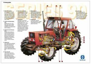 New-Holland-90-Series-100-90-110-90-Fiatagri-Cutaway-Brochure-Poster-Advert-A3