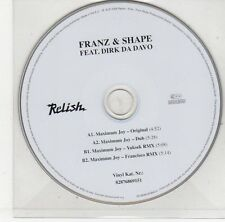(EJ248) Franz & Shape ft Dirk Da Davo, Maximum Joy - 2006 DJ CD