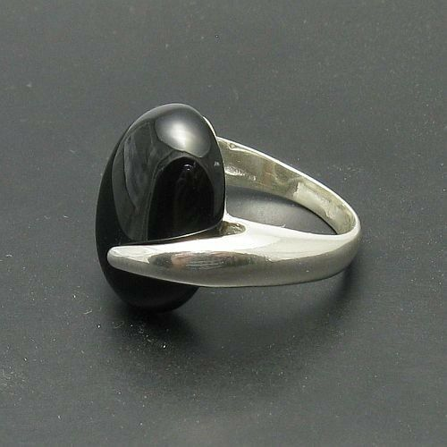 STERLING SILVER RING SOLID 925 BLACK ONYX SIZE 4-10 NEW R000417 EMPRESS