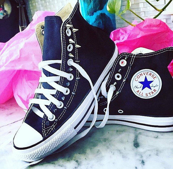 Spiked Converse Chuck Taylor All Stars Studded Custom  ALL Sizes 5,6,7,8,9,10