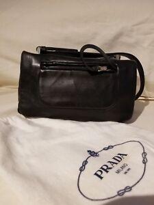 ae37d96a5ebf Image is loading Prada-Mini-Purse-Hand-logo-leather-purse-woman-
