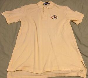 Ralph-Lauren-Polo-Golf-Shirt-Yellow-U-S-Open-Bethpage-2002-M-Free-Shipping-MINT