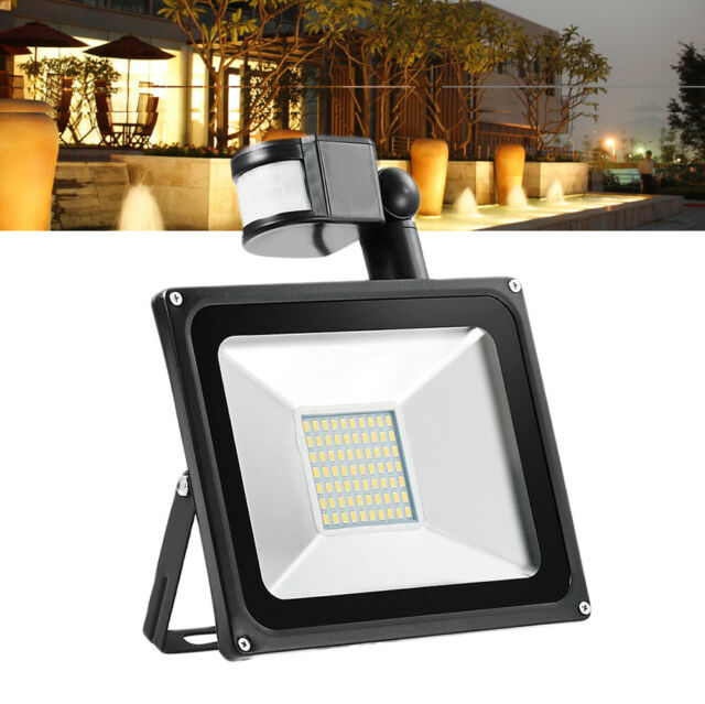 50W LED Floodlight with PIR Sensor Security Garden Outdoor Light Yard Lamps Warm