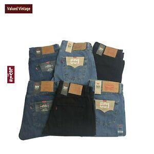 Levis-Levi-501-Herren-Brandneu-mit-Etiketten-Denim-Jeans-Straight-w30-w32-w33-w34-w36