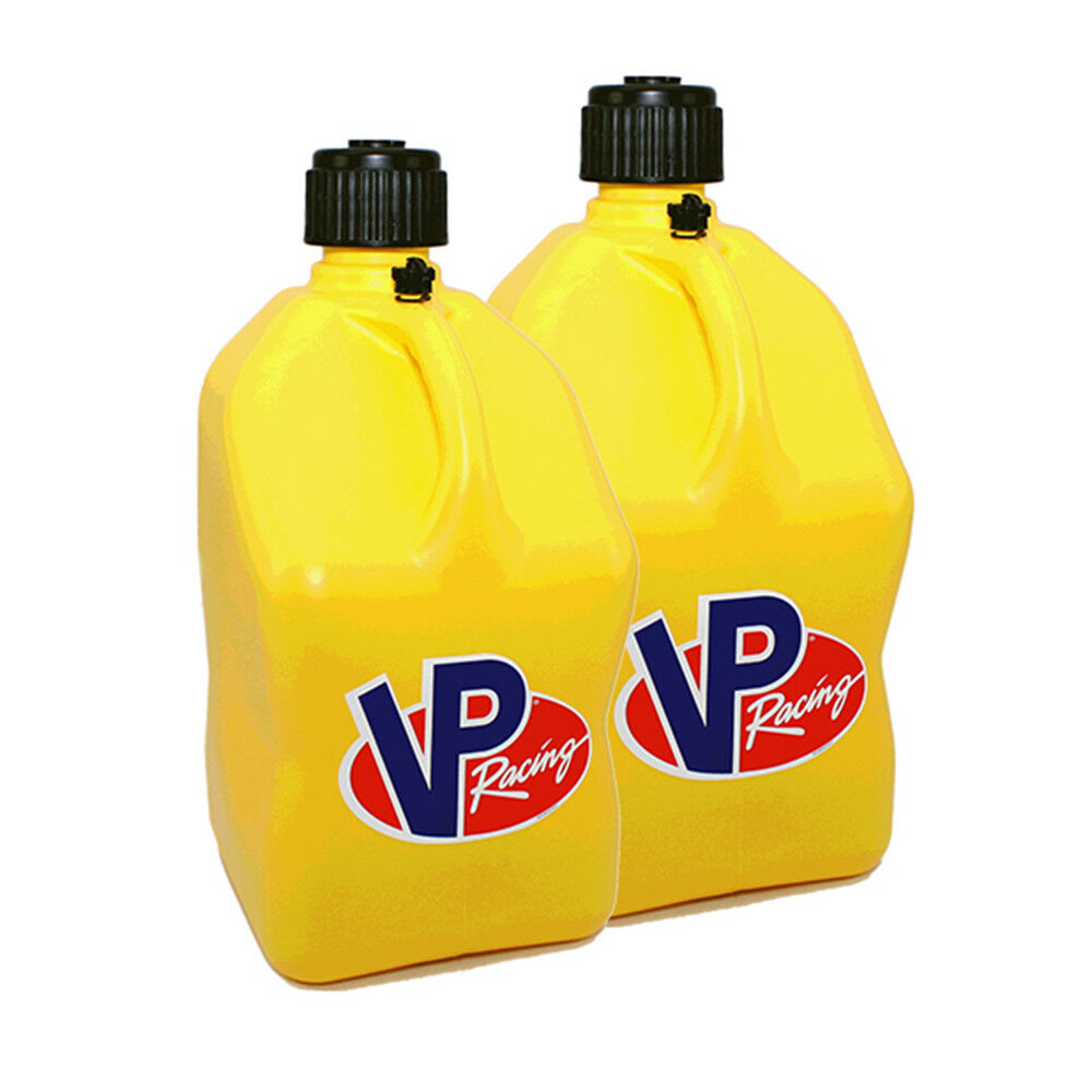 4 Pack Vp Racing Yellow 5 Gallon Square Fuel Jug Extra