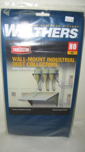 Walthers Cornerstone HO Wall Mounted Industrial Dust Collector Kit #933-3510