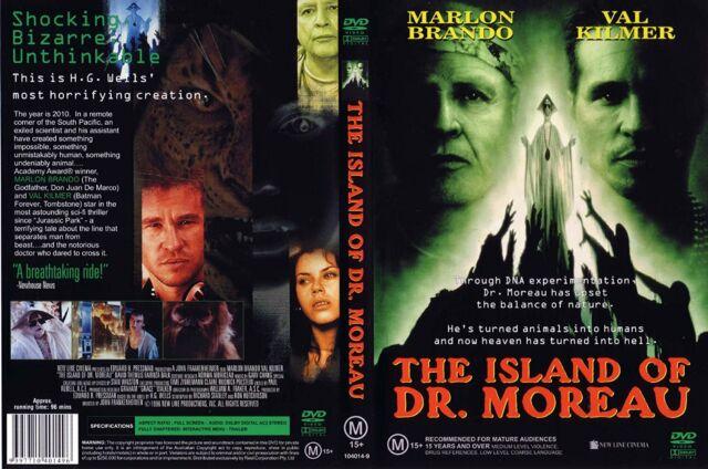 The Island Of Dr. Moreau - DVD -  1996 Marlon Brando - REGION 4 - RARE