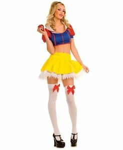 Image is loading Sexy-Women-039-s-Story-Book-Princess-Halloween-  sc 1 st  eBay & Sexy Womenu0027s Story Book Princess Halloween Costume: Yellow Skirt ...