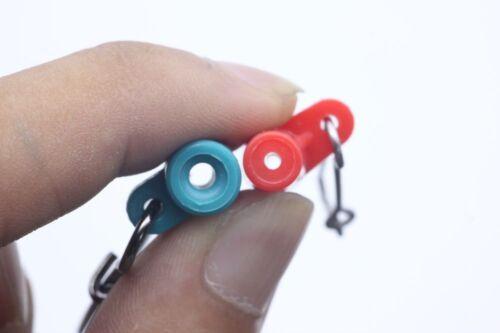 10pcs Fishing Sinker Slip Clips Plastic Head Swivel With Hooked Snap Slide