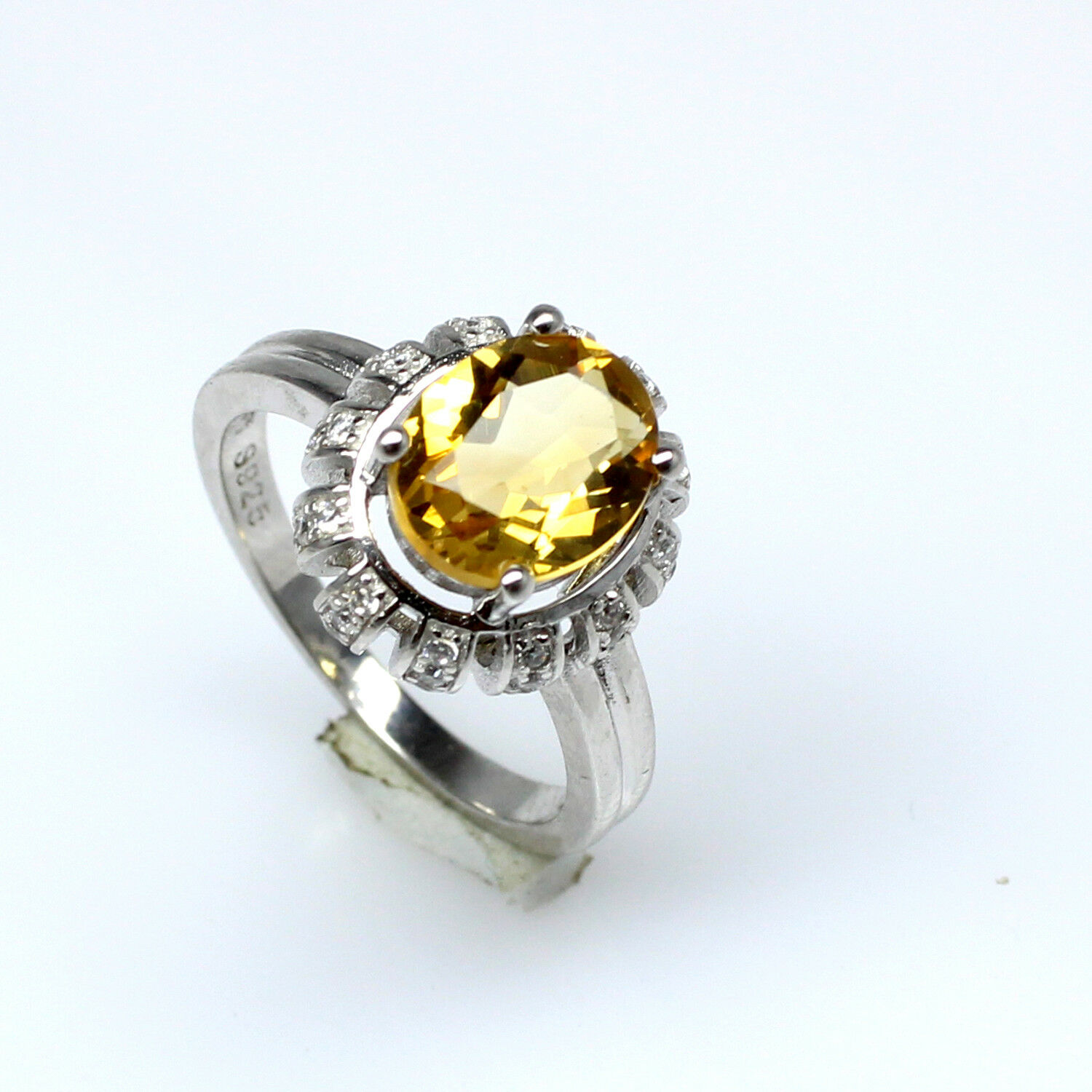 0030201a84c2e Citrine Yellow Natural Faceted Women's WSR-055 Ring Designer ...