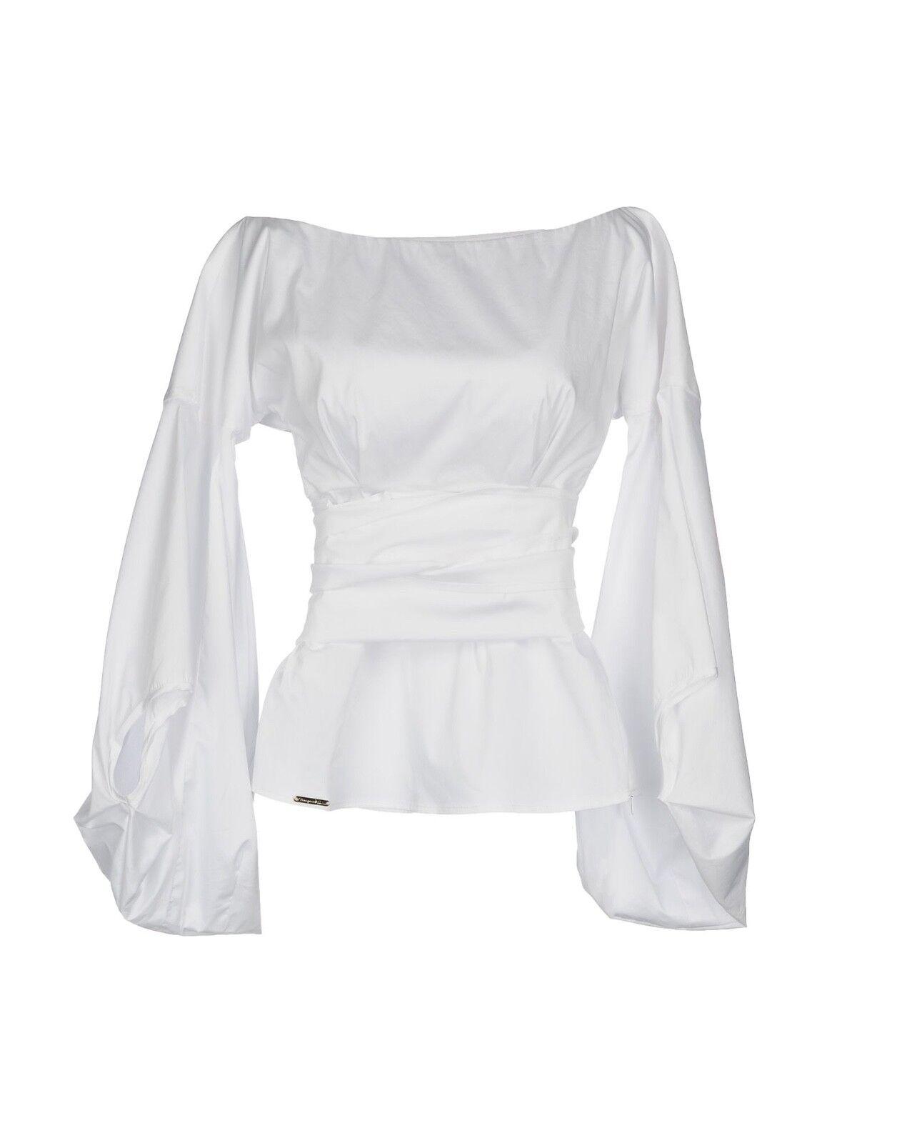 Mariagrazia Panizzi Weiß Blouse Off the Shoulders Größe   IT48 10-12