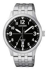 New Citizen Men's Dress Stainless Steel Quartz Date Watch BI1050-81F