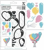 DOCRAFTS XCUT LARGE DIE SET BALLOONS 10 CUTTING DIES - NEW UNIVERSAL FIT