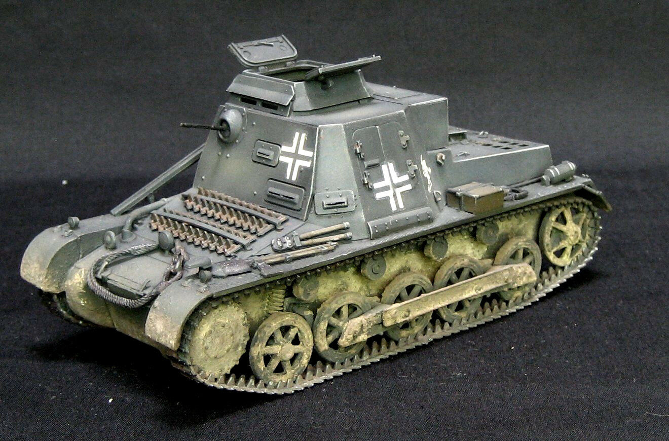 Italeri panzer I ausf B commandopanzer pro built and painted 1 35 model kit