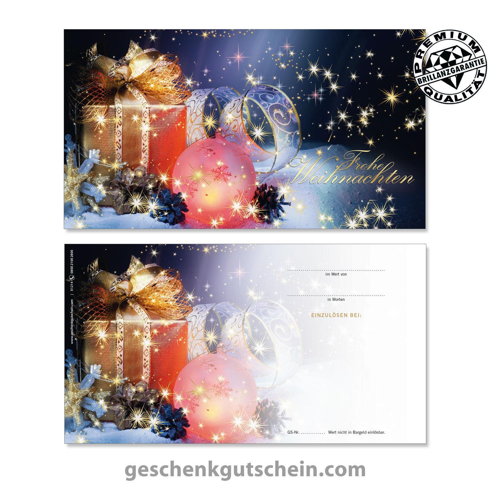 Weihnachts-Geschenkgutscheine mit KuGrüns für alle Branchen X1214 X1214 X1214 059916