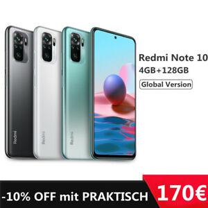 "Xiaomi Redmi Note 10 4GB 128GB Handy 6,43"" AMOLED 48MP 5000mAh 33W EU Version"