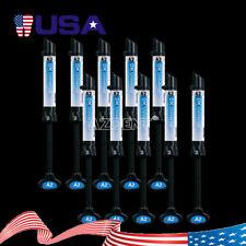 10pcs Dentex Dental Syringe Universal Composite Light Cure Resin Refill A2 Shade