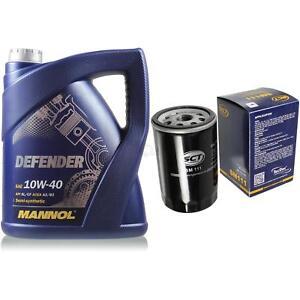 Inspektionspaket-Olfilter-Set-5L-MANNOL-10W40-VW-Golf-IV-1J1-Audi-A4-8D2-B5