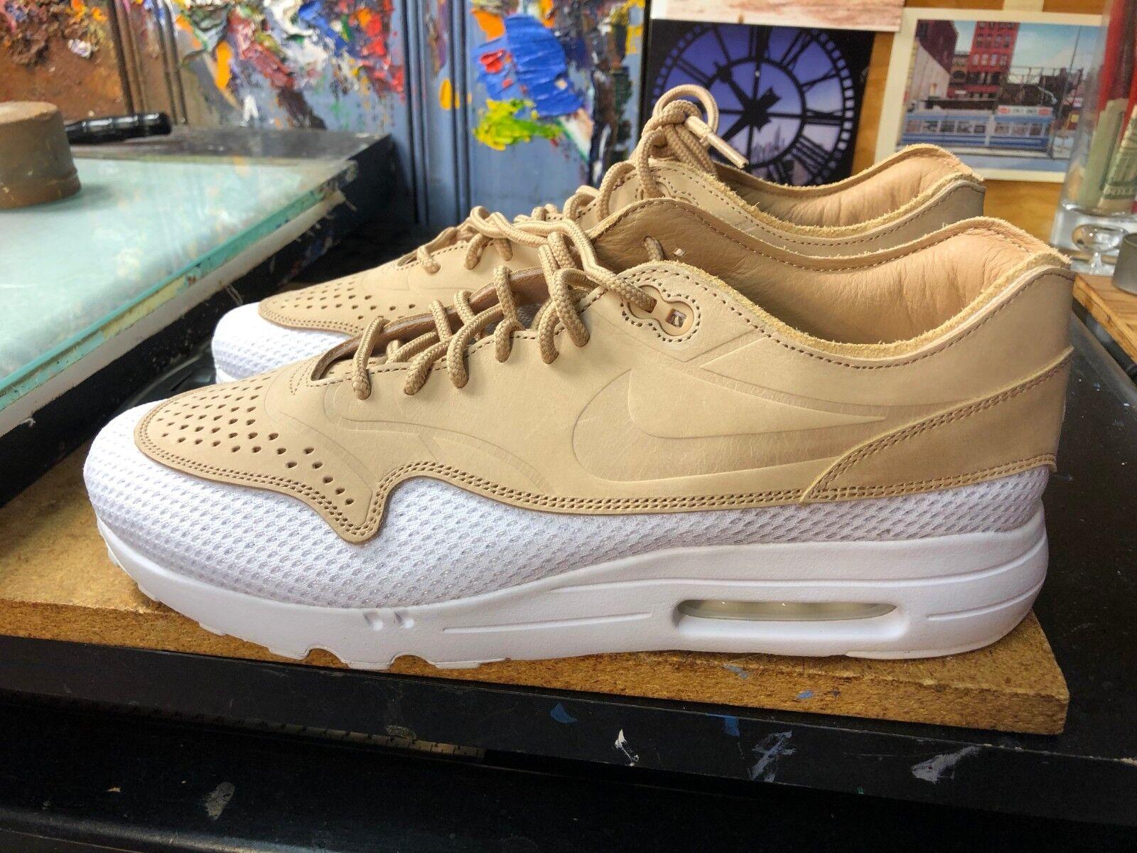 Nike Air Max 1 Ultra 2.0 Premium Breathe Vachetta Tan US 10.5 Men AO2449 200