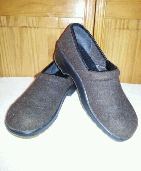 SANITA Original Danish CLOGS BROWN WOOL WOOL WOOL EU 30 US WOMENS 8 8.5 9 2fe068