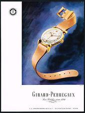 1940's Vintage 1947 Girard Perregaux Wrist Watch Mid Century Modern Art Print AD