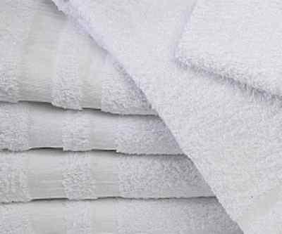 60 new white 22x44 gym salon spa bath towels cotton atlantic mills