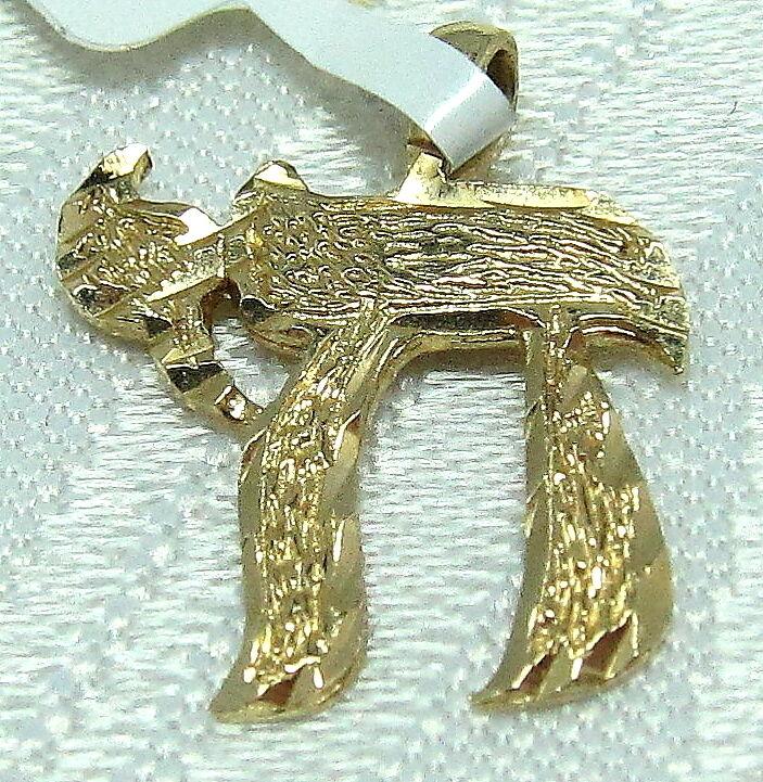 gold HAI LIFE PENDANT UNISEX 14KY DIAMOND CUT 0.9 GRAMS