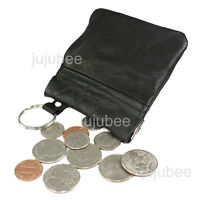 Leather Coin Purse Wallet Metal Spring Closure