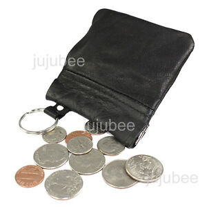Leather-Coin-Purse-Wallet-Metal-Spring-Closure