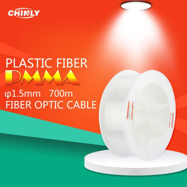 Fiber Optics Cable Lights END GLOW 1.5mm Plastic Fiber Optical 700m High Bright