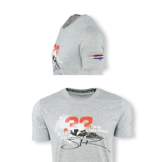 T-SHIRT Verstappen Scuderia Toro Rosso Formula One 1 F1 NEW! Red Bull Sponsor