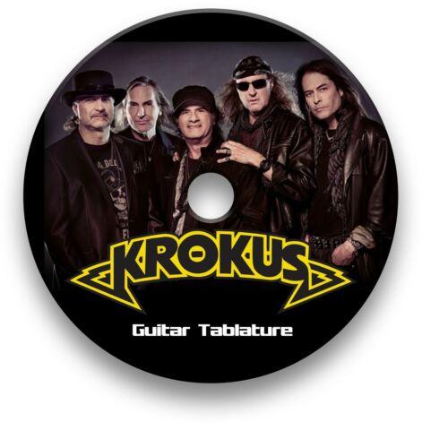 KROKUS ROCK GUITAR TAB TABLATURE SONG BOOK ANTHOLOGY SOFTWARE CD