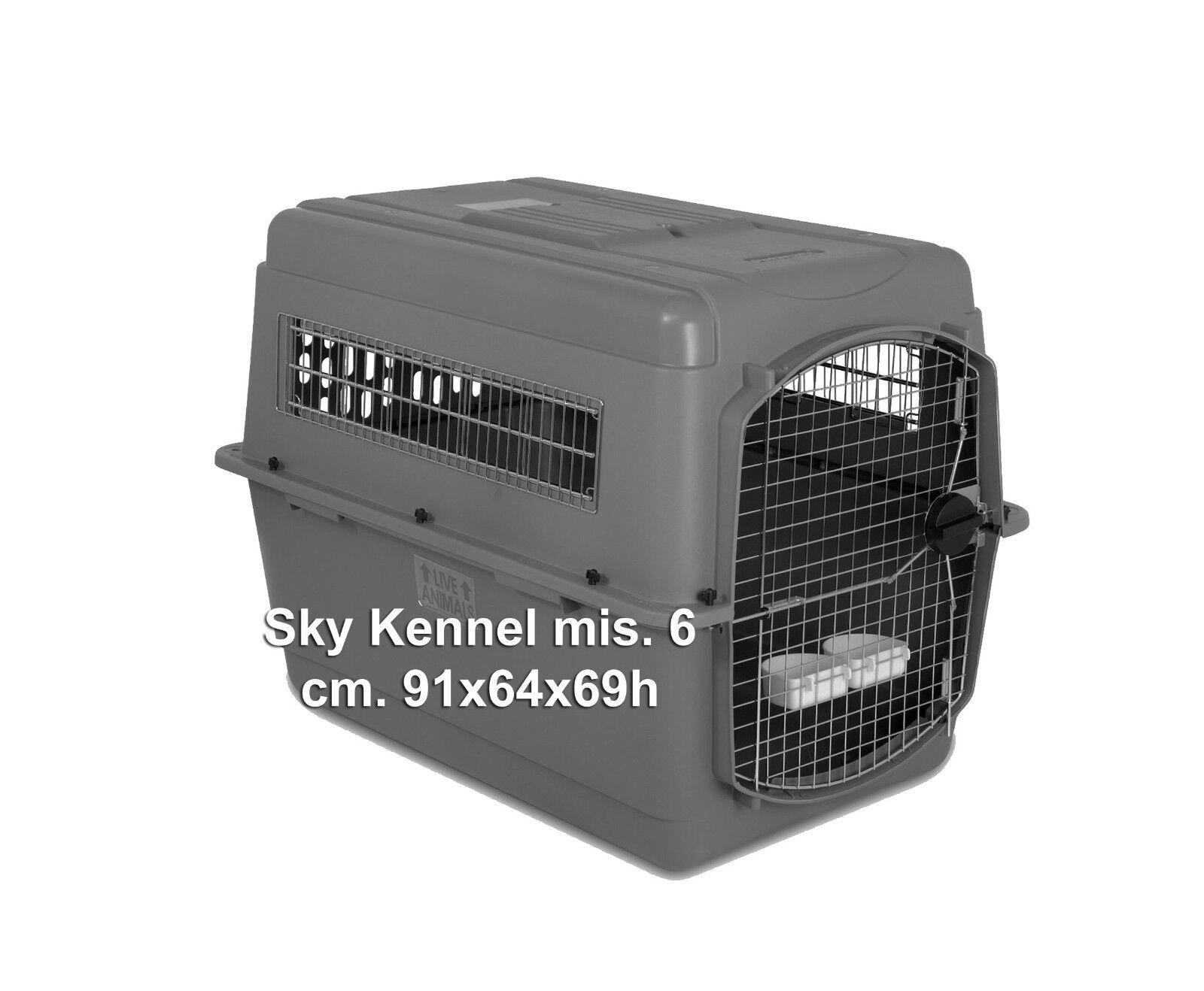 Trasportino aereo per cani Petmate Sky Kennel misura 6. Omologato per Alitalia