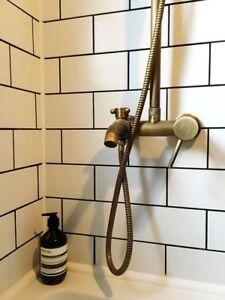New York Flat White Subway Metro Gloss Bathroom Kitchen ...