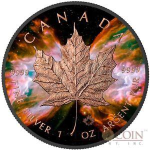 Canada-BUTTERFLY-NEBULA-MAPLE-Ruthenium-Finish-and-Rose-Gold-Gilding-2016