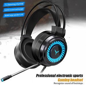 Confortable Coloré LED   Gaming Headset 7.1 Surround Sound pour PC