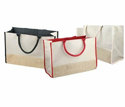 """Goed Juco Tote Bag With Burlap And Cotton Accents 17.5""""wx11.5""""hx8.5""""d (3 Pack)"""