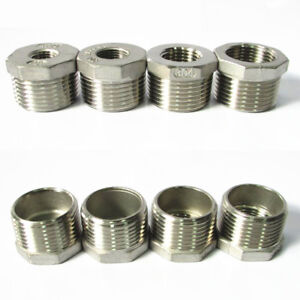 Image is loading 304-Stainless-Steel-Pipe-Fitting-Hex-Bushing-Reducing-  sc 1 st  eBay & 304 Stainless Steel Pipe Fitting Hex Bushing Reducing Reducer Male ...