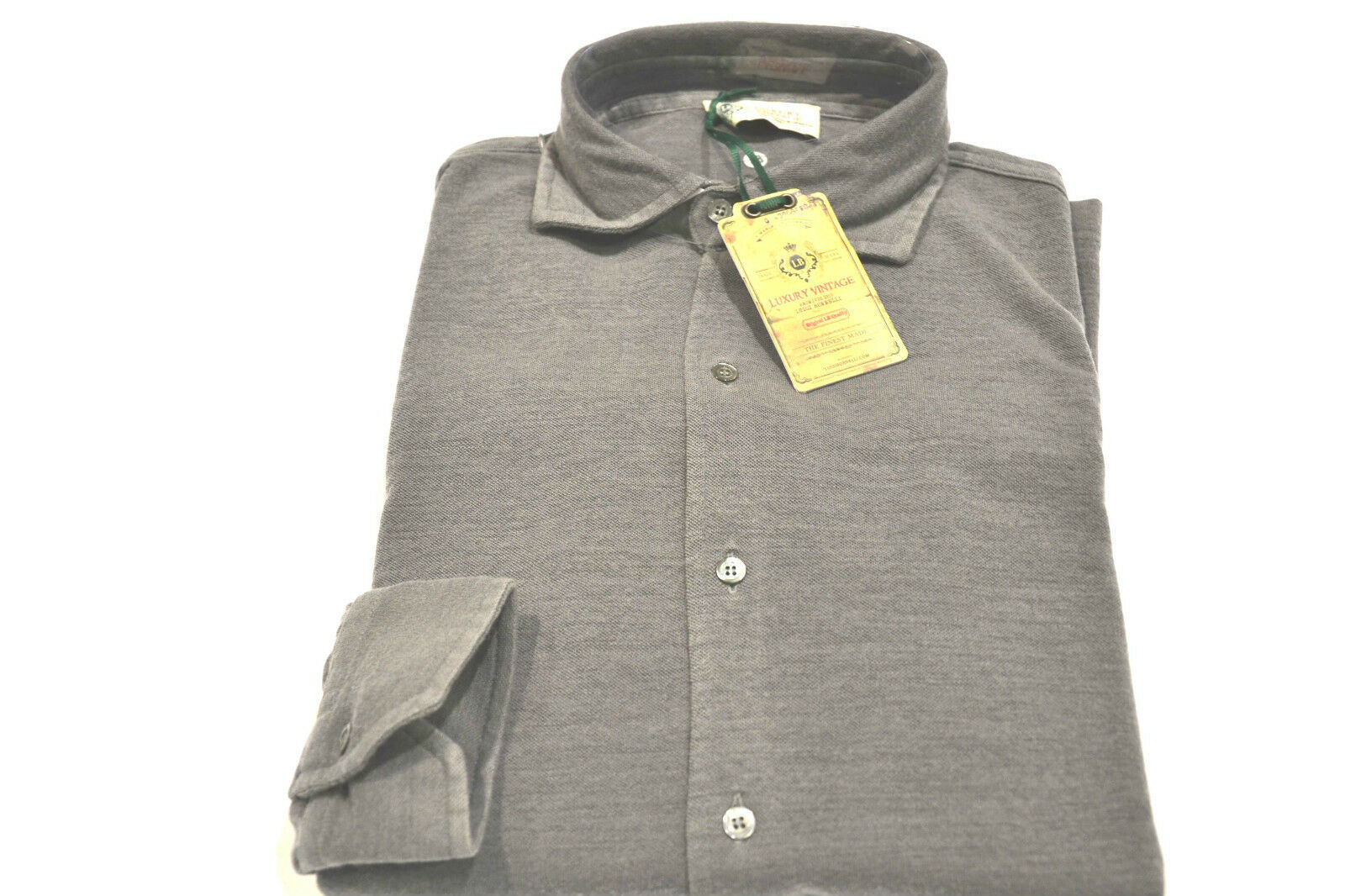 NEW LUIGI BORRELLI Luxury Napoli Sweater  Polo Wool Size L Us 52 Eu