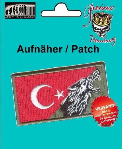 Bandiera Turchia ricamate patch emblema Turchia bonkurt ottomano 100/% RICAMATI