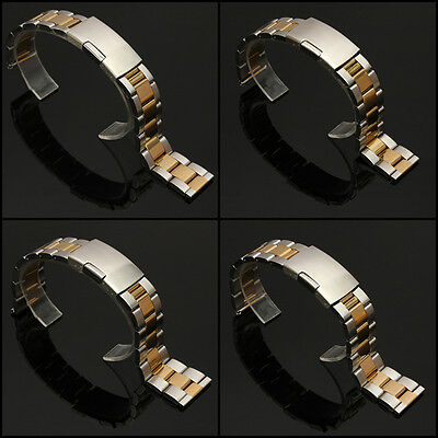 18-24mm 304 Stainless Steel Watch Bands Strap Bracelet Straight End Gold&Silver