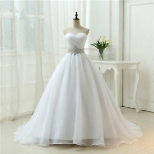 Hot New Whiteivory Wedding Dress Bridal Ball Gown Size 6 8 10 12 14