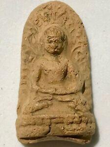 PHRA LP PAN RARE OLD THAI BUDDHA AMULET PENDANT MAGIC ANCIENT IDOL#55