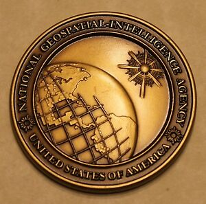 Image Is Loading National Geospatial Intelligence Agency Nga Challenge Coin