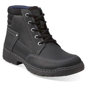 Men's Ankle Boots/Clarks Newbern Up Dark Brown Leather