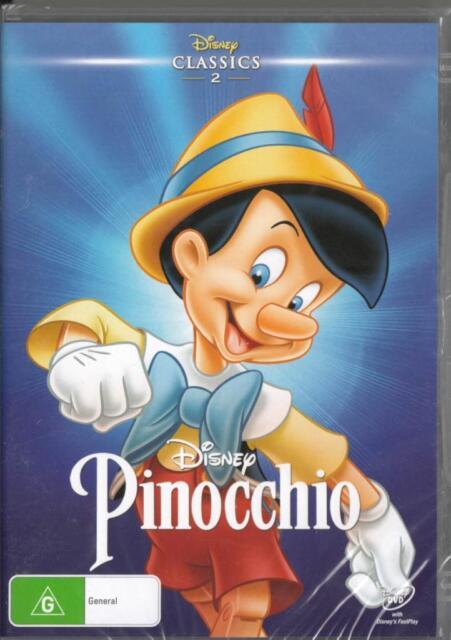 PINOCCHIO - DISNEY - NEW & SEALED REGION 4 DVD FREE LOCAL POST