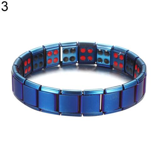 GN /_ Unisex pulsera magnética del brazalete Turmalina balance de energía jewelr de cuidado de la salud
