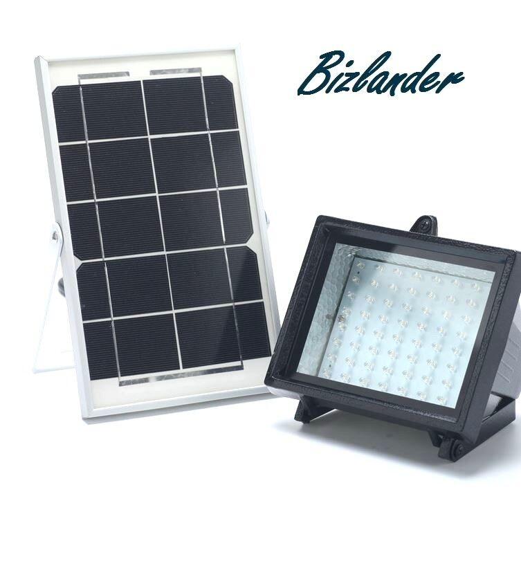 Nueva portátil 60 LED Luz Solar para Valla publicitaria signo Jardín Camping SMNS