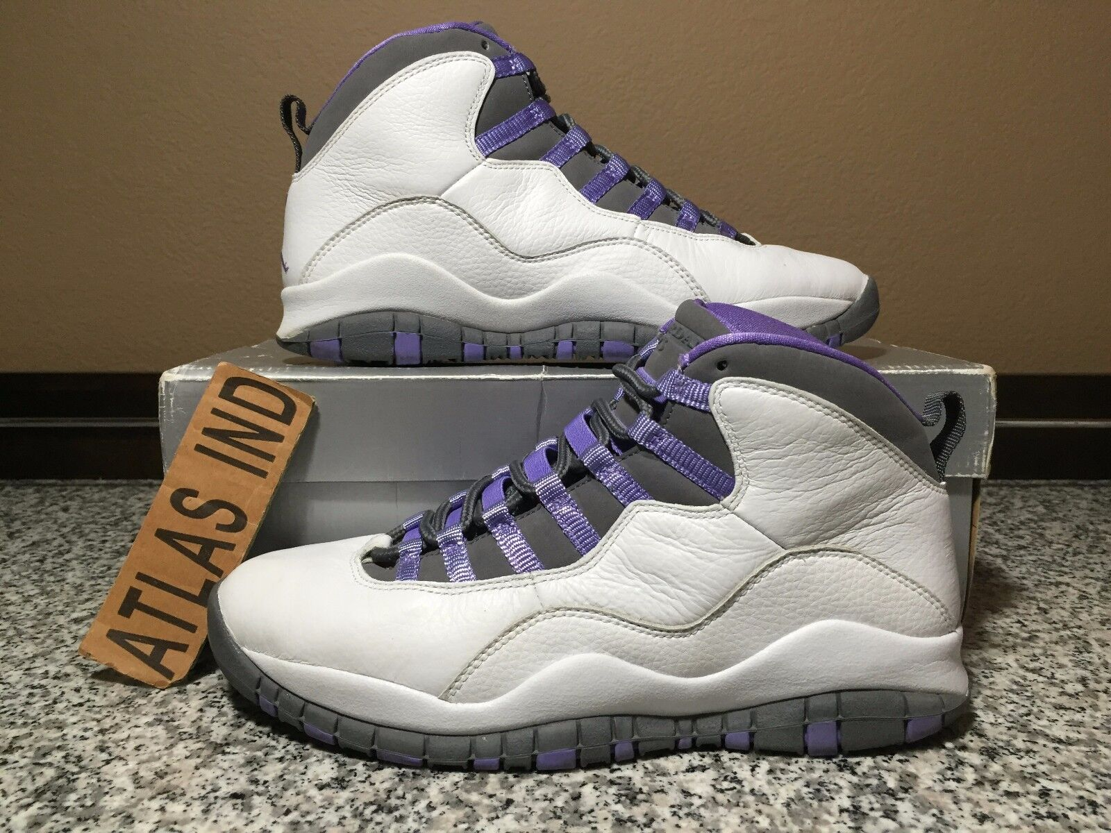 AIR JORDAN 10 RETRO Violet White Purple Nike X 1 3 4 5 6 11 12 OVO DB 2005 9 7.5 The latest discount shoes for men and women